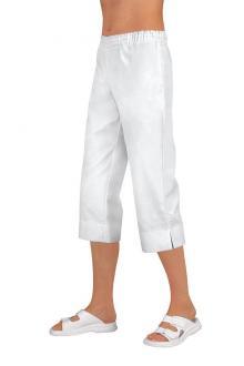 c46ba1782ec ... 3 4 kalhoty dámské Haiti Capri bílé 100% bavlna