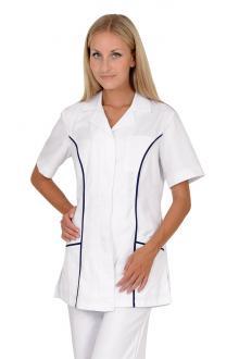 ... Dámská pracovní halena pro zdravotníky Faza 2 bílá tmavě modrá 100%  bavlna abdf3c36ed