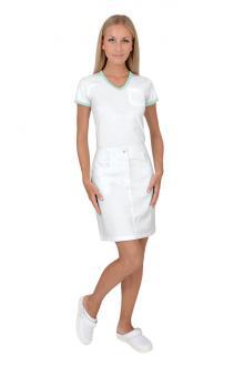 ... Dámská pracovní sukně Elen bílá 100% bavlna e6ffe0e896