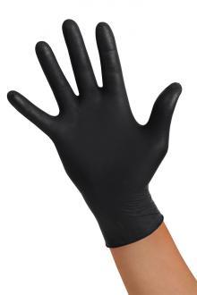 ... Nitrilové jednorázové rukavice nepudrované Soft černé 89c75feac4