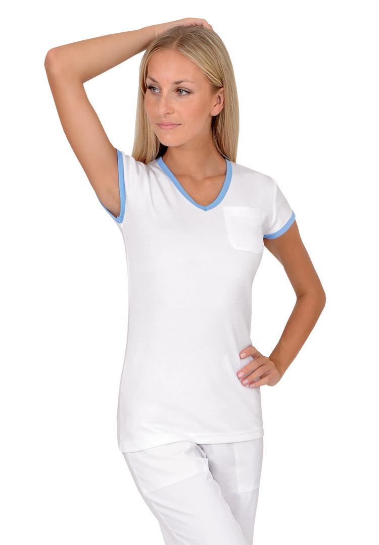 Dámská trička Vito Duo krátký rukáv bílá modrá - Kliknutím zobrazíte detail  obrázku. 37837ffc71