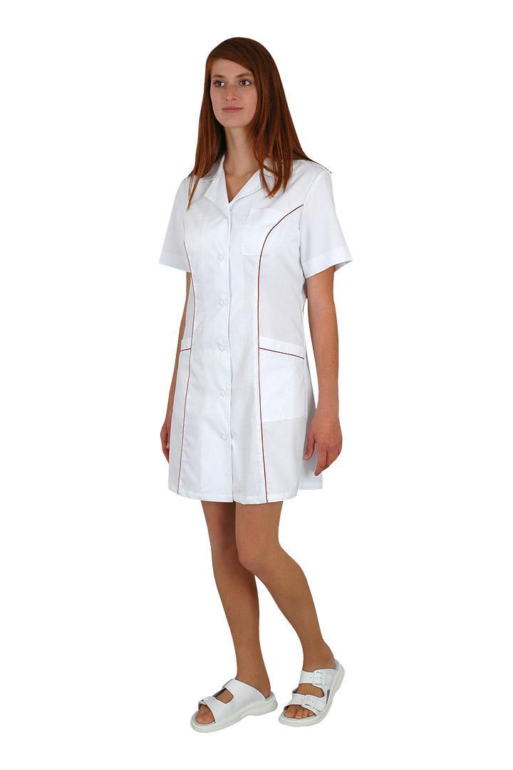 Sesterské šaty pracovní Faza základ bílé 100% bavlna - Kliknutím zobrazíte  detail obrázku. 4cf6c2f25b
