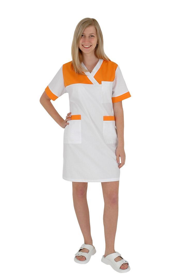 Zdravotnické šaty pracovní pro sestřičky Julia-C základ bílé 100% bavlna -  Kliknutím zobrazíte d75f5e6426