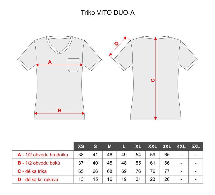 7b242db435a Dámská trička Vito Duo-A